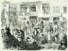 Urban cholera hazards, 1850s