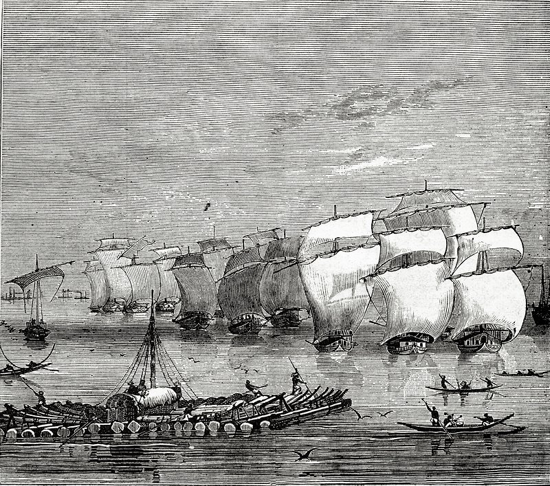 Opium fleet in India, 1850s