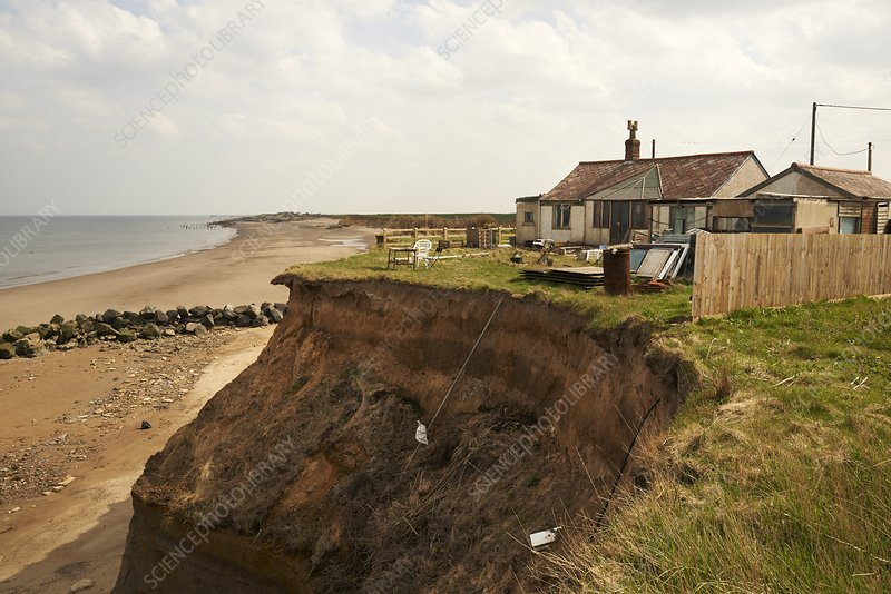 House in danger from coastal erosion