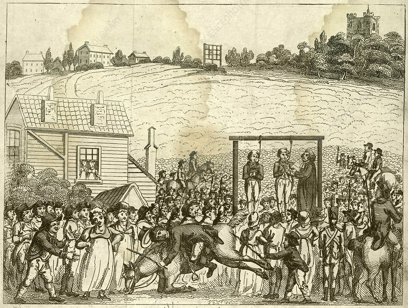 Execution by hanging, 1800s