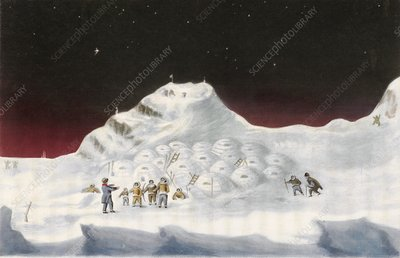 Igloos in the Canadian Arctic, 1830s