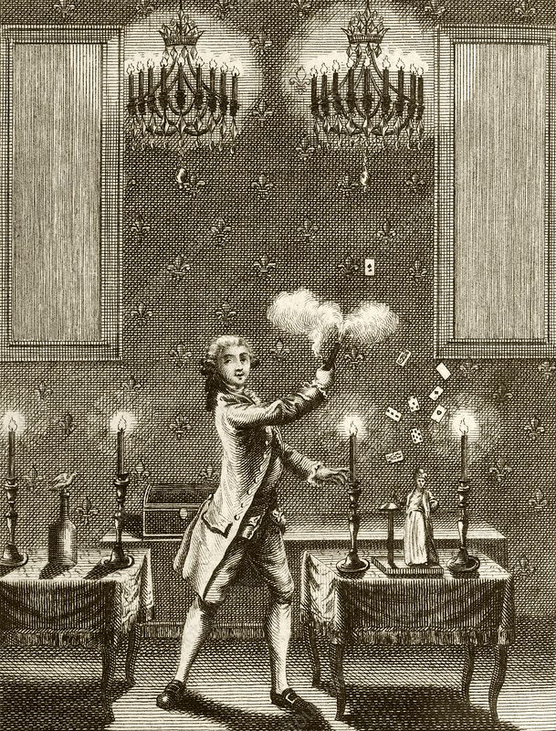 Conjuring performance, 18th century