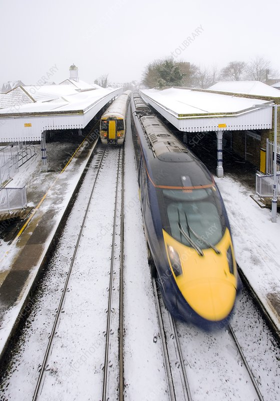 Trains in winter