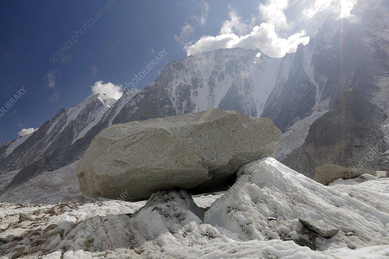Glacier table, Argentiere Glacier