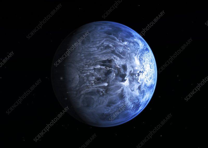 Exoplanet HD 189733b, artwork