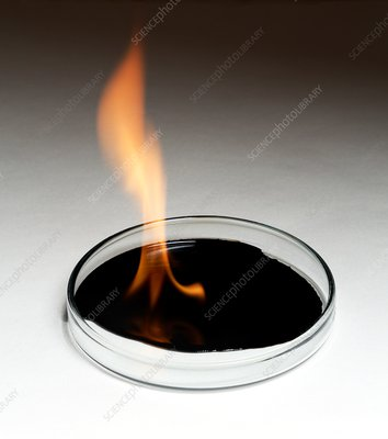 Crude oil burning