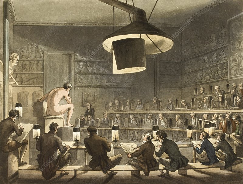 Life drawing class, 1808