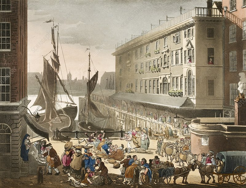 Billingsgate Fish Market, 1808