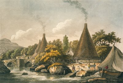 Conical glass furnaces, 1798