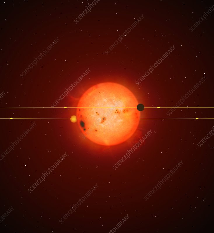 Planet transiting a star