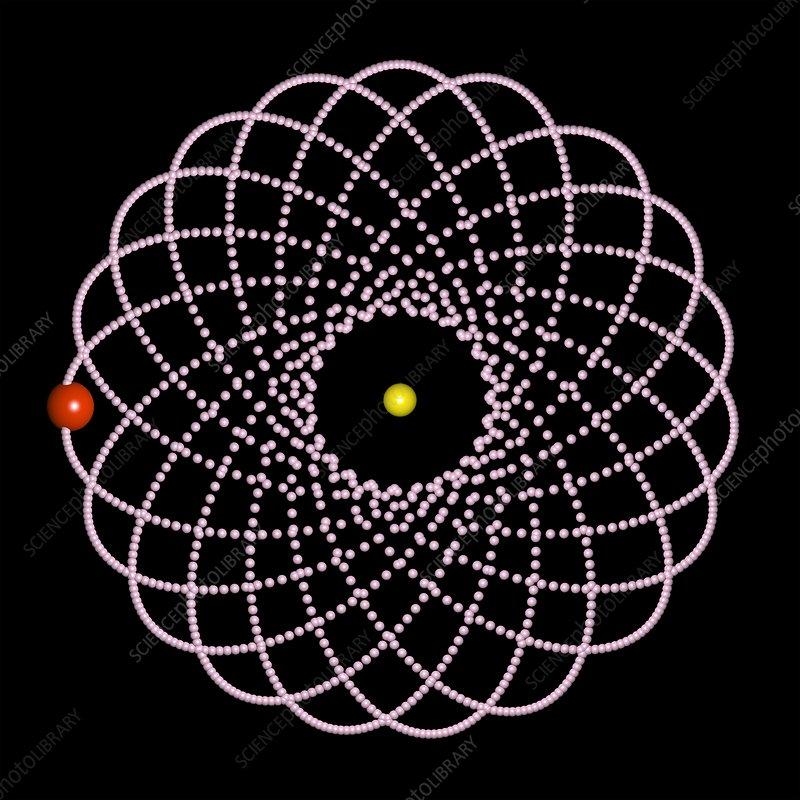 Rosetta orbit around black hole, artwork