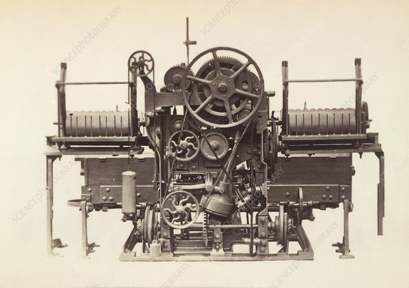 Textile industry machinery, 1870s