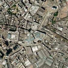 Birmingham city centre, aerial photograph