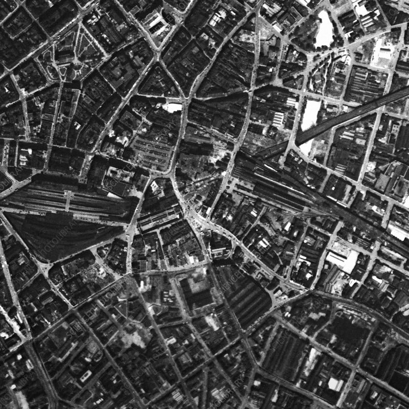 Birmingham Historical Aerial Photograph Stock Image C - Historical aerial maps