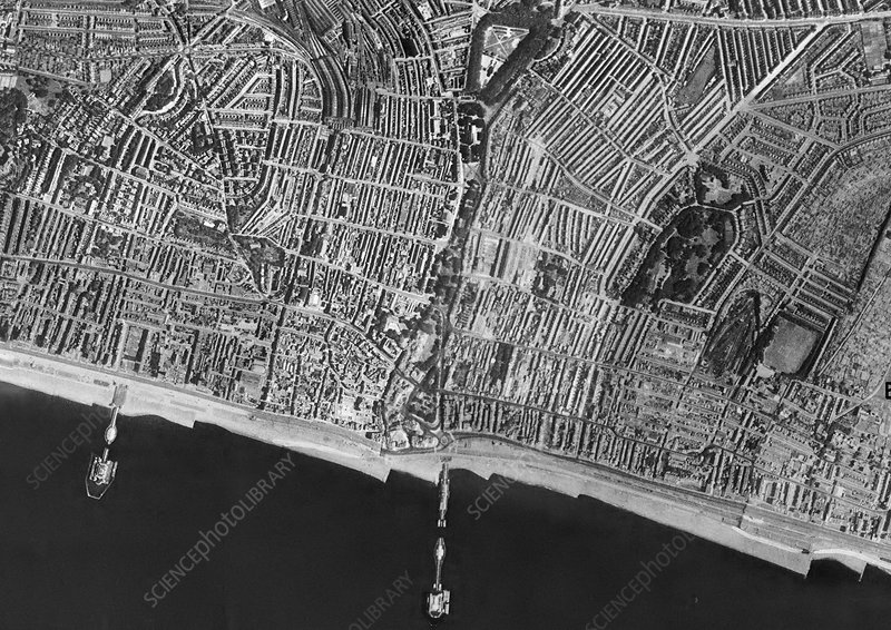 Brighton, historical aerial photograph