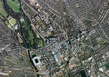 Cardiff city centre, aerial photograph