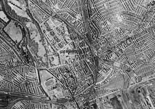 Cardiff, historical aerial photograph