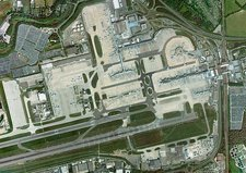 Gatwick airport, aerial photograph