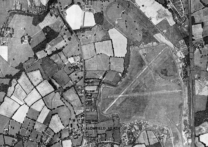 Gatwick, historical aerial photograph