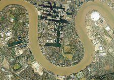 Isle of Dogs, aerial photograph