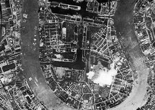 Isle of Dogs, London, historical aerial