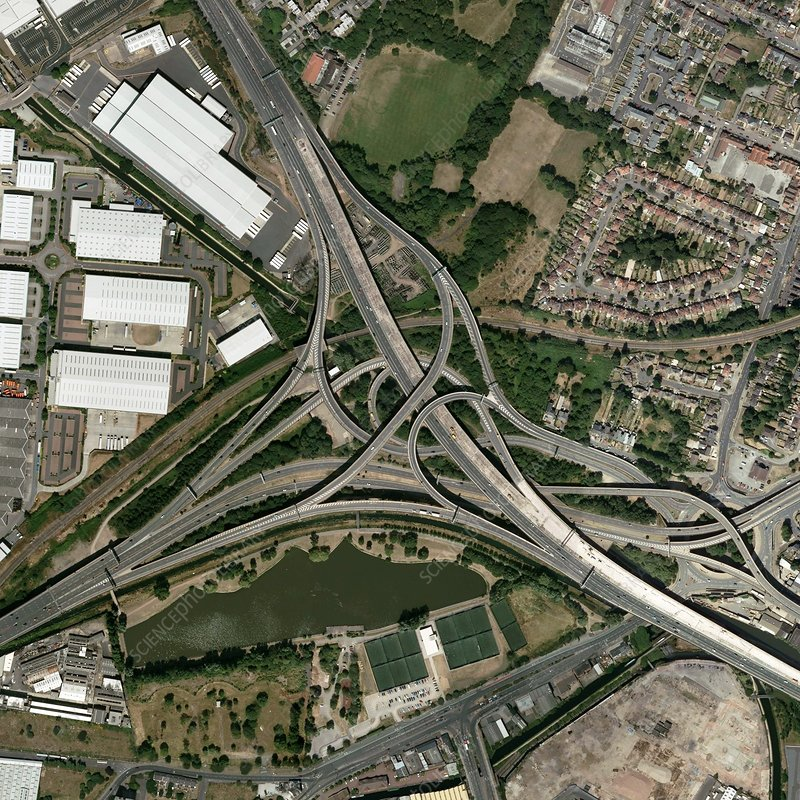 Gravelly Hill Interchange, aerial view