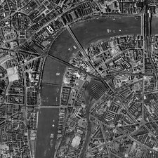 Waterloo Station, historical aerial