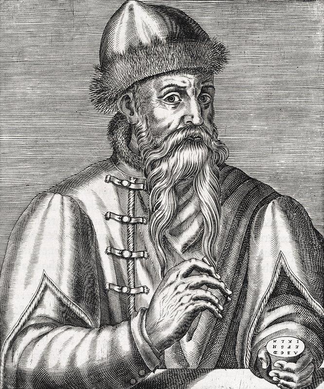 Johannes Gutenberg, German printer - Stock Image - C017 ...