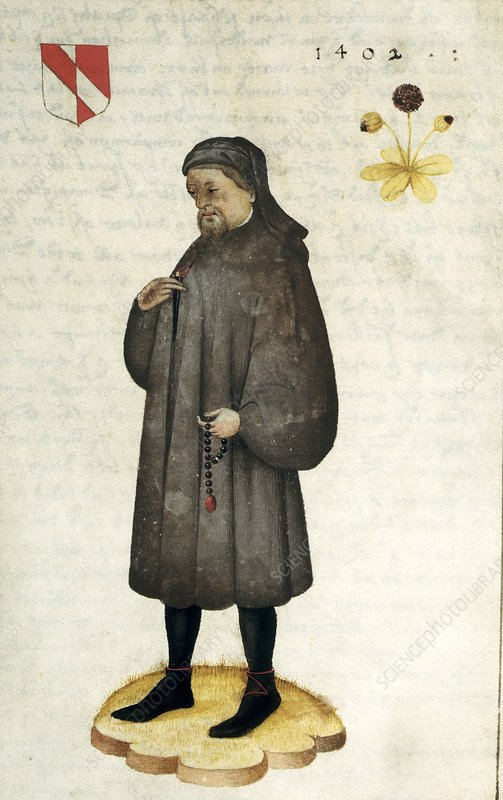 Geoffrey Chaucer, English author and poet