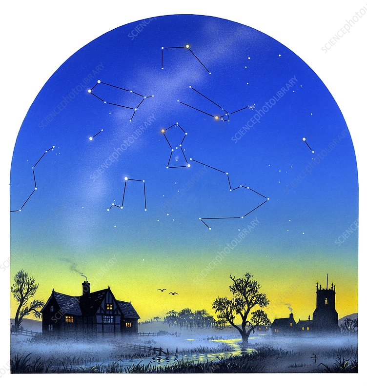 Night sky, artwork