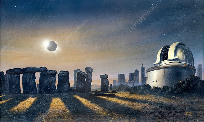 Stonehenge and observatory, artwork