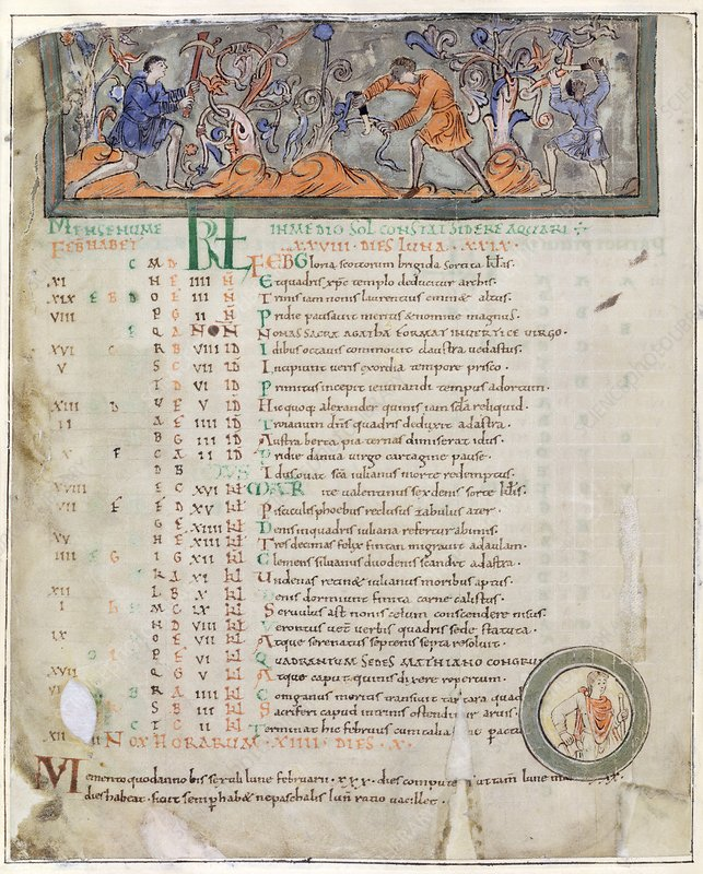 Month of February, Anglo-Saxon calendar