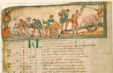 Haymaking in June, Anglo-Saxon calendar