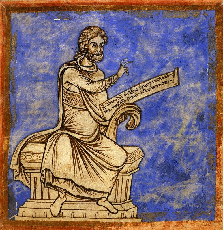 Physician with a scroll, 12th century