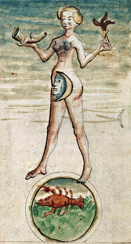 Personification of Luna, 15th century