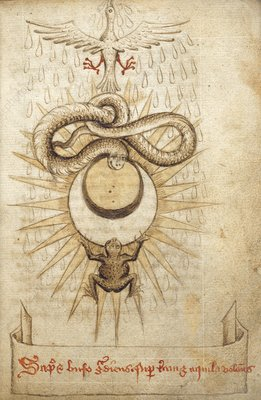 Alchemical drawings, 15th century