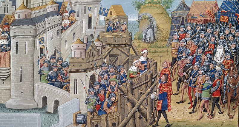 English army at Troyes in 1380