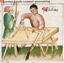 Carpenter at work, 15th century