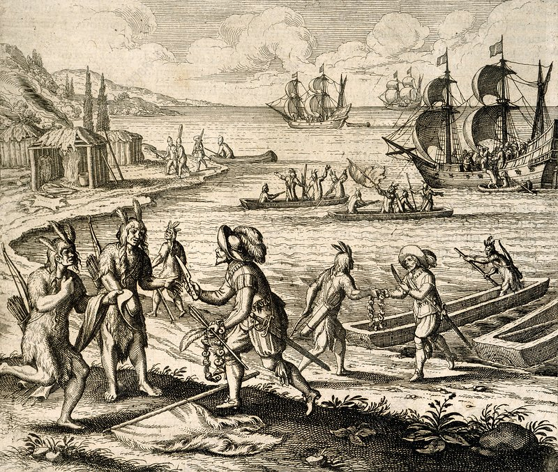 Europeans trading in Newfoundland, 1612