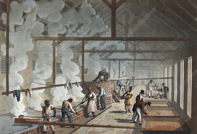 Sugar factory in Antigua, 1820s