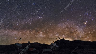 Milky Way over La Palma observatory