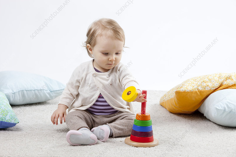 Infant Playing Indoors