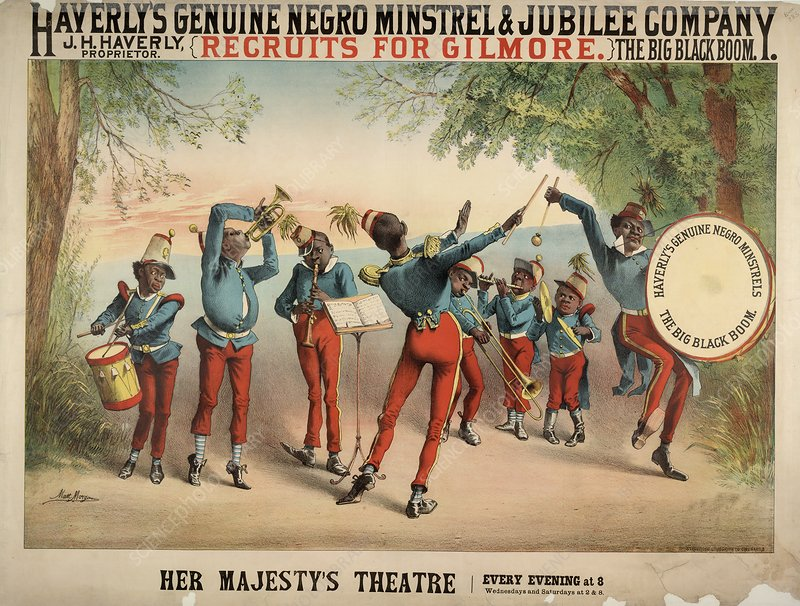 Musical troupe advert, 1870s