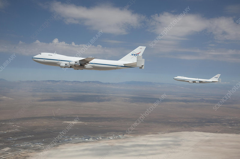 Two NASA Boeing 747s