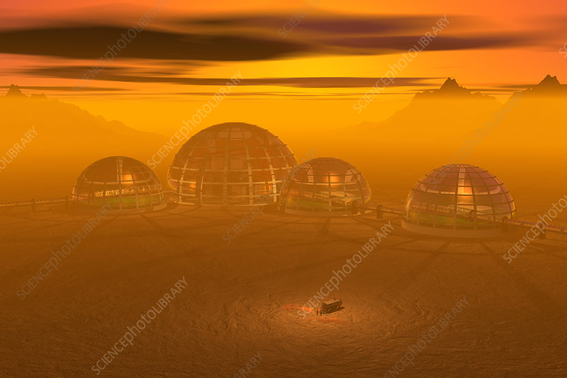 Human Settlement on Alien Planet