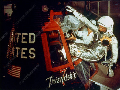 John Glenn Enters Friendship 7 Capsule