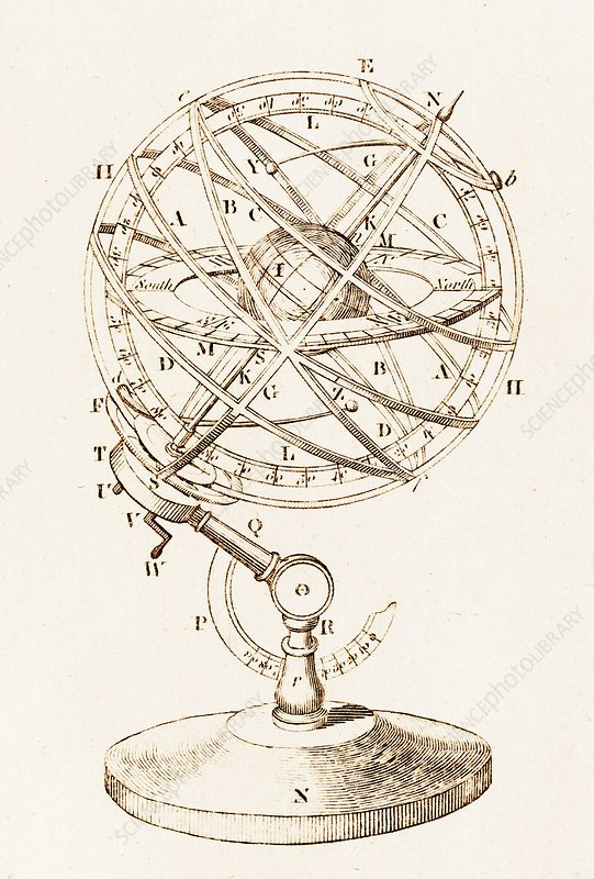 Armillary Sphere Illustration