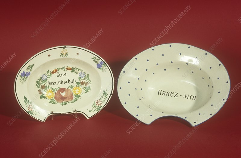 Barber's bowls, 19th century
