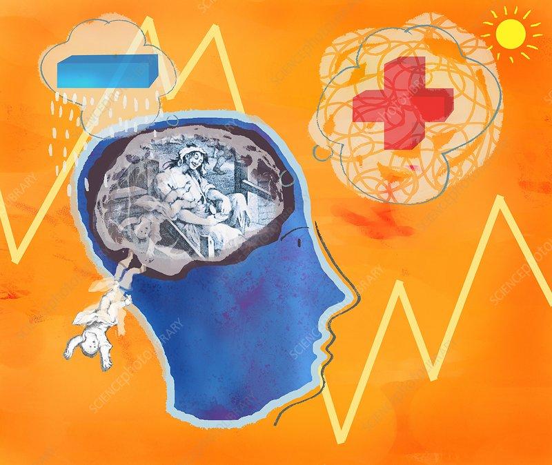 trauma  conceptual artwork - stock image c017  3640