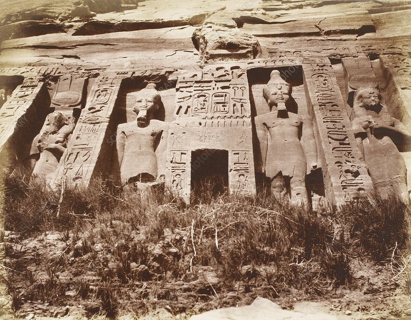 Small Temple at Abu Simbel, Egypt, 1850s